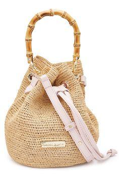 a40b98a22ff Straw Handbag with Bamboo | Heidi Klein Bamboe, Portemonnees, Leer, Stijl,  Handtassen