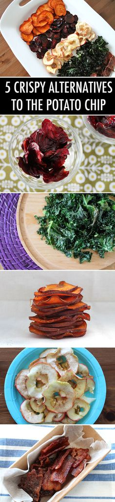 Who needs potato chips when you have kale, sweet potato, beet, apple, and bacon chips?!