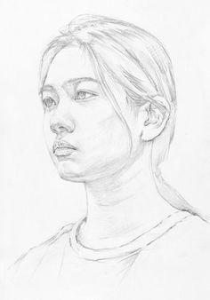 시도해 볼 프로젝트 Diy Techniques and Supplies diy painting techniques Portrait Sketches, Pencil Portrait, Drawing Sketches, Figure Painting, Figure Drawing, Diy Painting, Watercolor Portraits, Watercolor Paintings, Human Drawing