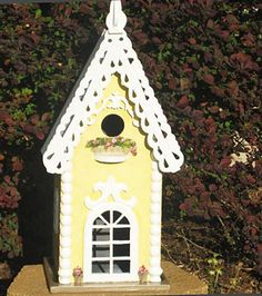Large Beautiful Hand Painted Birdhouse by PaintBrushedBoutique, $63.00