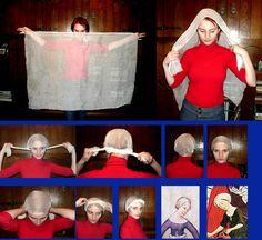 how to do a Medieval head wrap