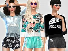 The Sims Resource: Summer Ibiza Sport Set by Pinkzombiecupcake • Sims 4 Downloads
