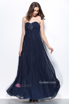 Strapless Sweetheart Long Chiffon Prom Dress. cheap evening gowns.  cheap prom dresses. affordable prom gowns.  #eveningdresses  #cheappromdresses