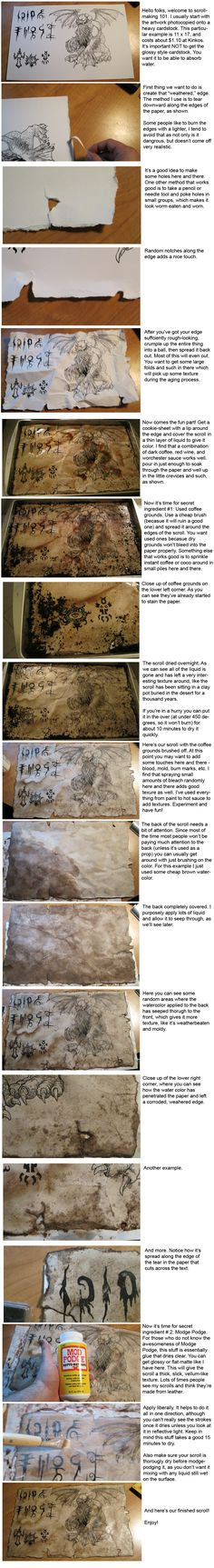 Scroll making Tutorial by hawanja.deviantart.com on @deviantART