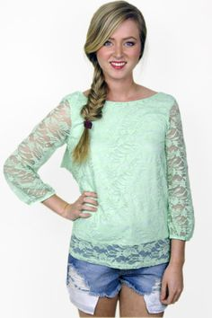 Lace Bow Detail Top
