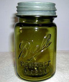 Olive green Ball Mason