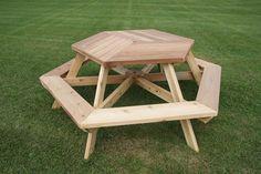 Hexagon Picnic Table Dans Furniture Pinterest Picnic - Hexagon picnic table for sale