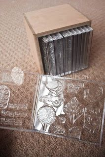#DIY #scrapbooking: Handy Stamp Storage Idea What?!!! So need to do this!