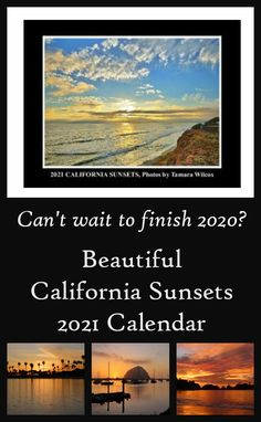 You need a new 2021 calendar to start your new year with a clean slate! Purchase this beautiful California Sunsets photo wall calendar as a gift for someone special or for yourself. High quality photos and materials make for the perfect gift. #calendars #california #sunsets #newyear #2021