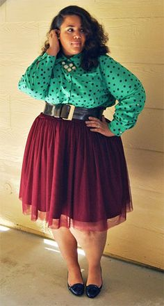 @Kiyonna Plus Size Clothing Twirling in Tulle Skirt from #gwynniebee on @Garnerstyle