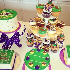Celebrate With Ravens Cakes & Cupcakes Available for purchase in Annapolis  @carolinescakes   Gooooo Ravens !!!!!!