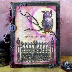 Barbara made this spooky framed display for her Halloween project on the Monday Challenge blog!