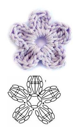 How to Crochet an Easy Chain Loop Flower Crochet Cord, Diy Crochet And Knitting, Form Crochet, Crochet Diagram, Crochet Motif, Crochet Stitches, Crochet Baby Dress Pattern, Crochet Flower Tutorial, Crochet Flower Patterns