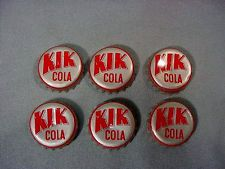 SIX rare KIK COLA CANADA SODA BOTTLE CAPS - - FREE SHIPPING Soft Drink, Soda Bottles, Bottle Caps, 1960s, Canada, Free Shipping, Ebay