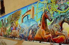 Mural Latino at the Little Village la Villita in Chicago, IL