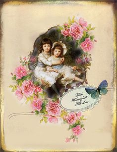 Digital Collage sheet vintage, instant download, Imaginations 59, journaling, scrapbooking, cards, labels, victorian tags, backgrounds