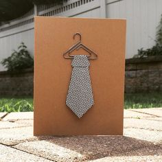 Tie Card, Origami Blank Card, Father's Day Card, Thank You Card, Birthday Card