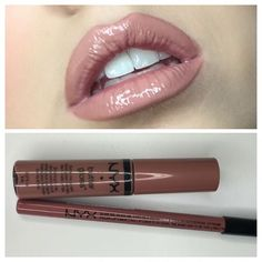 NYX Cosmetics  Nude Suede Shoes Lip Liner  Madeline Butter Gloss