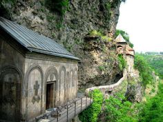 Cave-monastery in #Chiatura municipality, near village Mgvimevi.