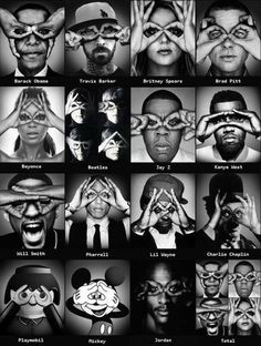 some of our favorite celebrities are puppets being controlled by the illuminati (I'm not calling them satanists, just puppets.) though maybe this is just a coincidence.  reenacting the allseeing eye/eye in a pyramid.