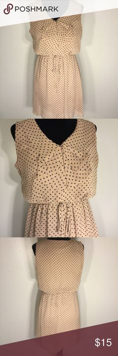Tendance salopette 2017  Retro Polka Dot Dress Cute polka dot dress. Preppy dress. Beige & Black. Dre