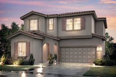 Our gorgeous Windsor floor plan has 4 Bedrooms, 3 Baths, a 2 Car Garage.  This plan starts in the $270's.  This floor plan is located in our new Liberty Square community in Fresno, CA.  Image:  Windsor Rancho Adobe Elevation.
