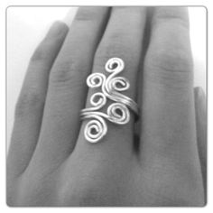 Spiral Wire Ring II. $10.00, via Etsy.