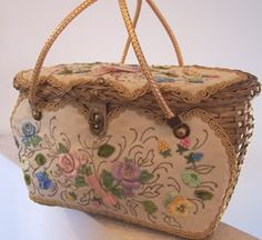 love this vintage basket purse