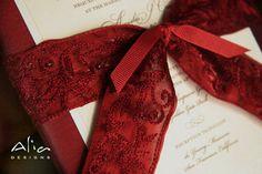 Wedding, Red, Invitations