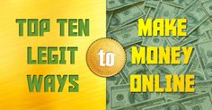 Download the top ten legit ways to make money online and stop wasting your time with gimmicks that don't work. It's time for you to earn money online legit with this guide. Online Income, Earn Money Online, Way To Make Money, Finance Tips, Top Ten, Personal Finance, Pdf, Earn Extra Money Online