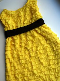20 minute ruffle dress.  Apparently this is for children but I bet I could do it in mine size.