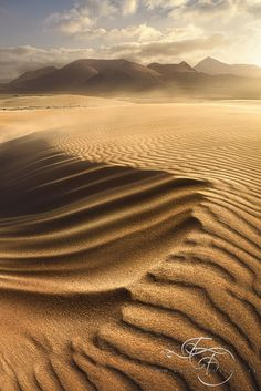 Shapes in the wind . island of Fuerteventura . Landscape Photos, Landscape Photography, Nature Photography, Rocky Mountains, Dune, Deserts Of The World, Desert Dream, Canary Islands, Out Of This World