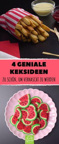 Pommes, Wassermelonen, Lutscher oder eine ganze Galaxie: 4 witzige und sehr kreative Ideen zum Keksebacken. #leckerschmecker #rezept #backen #gebäck #kekse #knusprig #krümel #krümeln #pommes #fritten #pommes frittes #kartoffeln #melone #wassermelone #obst #gefärbt #eingefärbt #lebensmittelfarbe #farbe #spaß #kreativität #kindergeburtstag #ideen #bunt #farbenfroh #konditorei #zuckerguss #guss #lolli #lutscher #am stiel #cake pop #weltraum #space #galaxy #galaxie #cookies #naschen #süßigkeiten