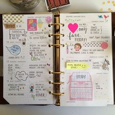 Jan 13-19. 2014 What a productive and fun week. Hope yours was too! #filofax #agenda #filofaxaddict #stationery #stickers #handwriting #journal