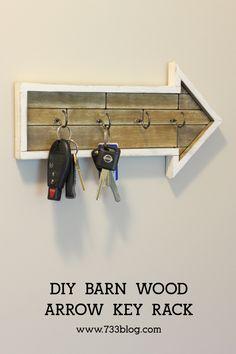 DIY Arrow Key Rack - seven thirty three