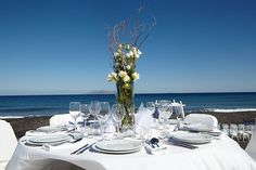 Our Job is to Organize and Host the Wedding of Your Dreams in the Most Marvelous Place to Get Married in Santorini, Greece. Relax & Enjoy your Special Day! Santorini Wedding Venue, Unique Wedding Venues, Greece, Table Decorations, Beach, Fun, Photos, Inspiration, Home Decor