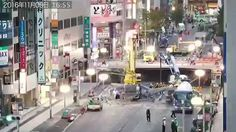 Extraordinary timelapse video has revealed how Japan managed to fix a huge sinkhole in a week with a work ethic that has shamed construction workers around the world