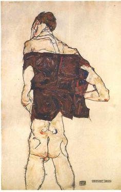 Egon Schiele, Stehender Mann (standing man), 1913
