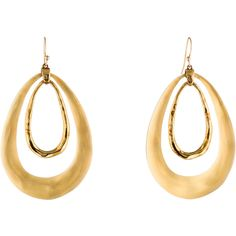 Pre-owned Alexis Bittar Lucite Drop Earrings ($95) ❤ liked on Polyvore featuring jewelry, earrings, gold tone jewelry, lucite earrings, alexis bittar earrings, acrylic earrings and hammered jewelry