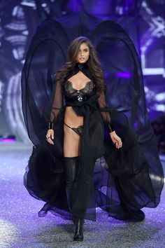Taylor Hill for Victoria's Secret Fashion Show 2016 - http://HarpersBAZAAR.com