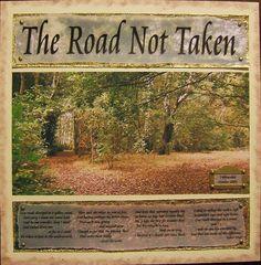 art--unknown artist--online  (The Road Not Taken--Robert Frost)