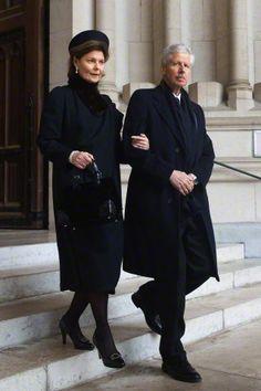royalhats:  Queen Fabiola's Funeral, December 12, 2014-Princess Margaretha and Prince Nikolaus