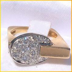 #jewelry 18k Gold custom made ring with diamonds!! please retweet