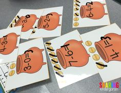 check out these FUN hands on subtraction centers