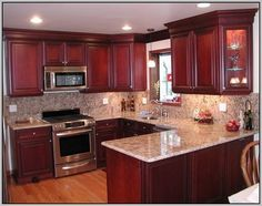 Kitchen Cabinets Cherry kitchen paint colors with cherry cabinets |  post :choose the