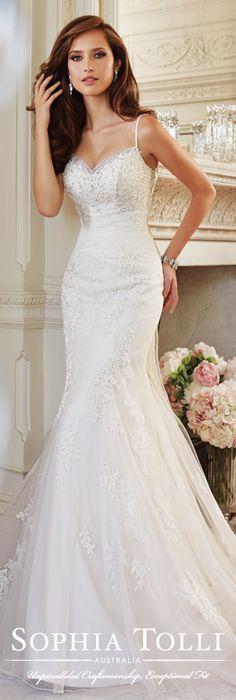 The Sophia Tolli Wedding Dress Collection - Style No. Y21444 Cloris www.sophiatolli.com #weddingdresses #weddinggowns