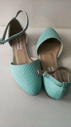Zapatos bajos verde menta 3