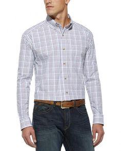 Ariat Nix White Plaid Shirt