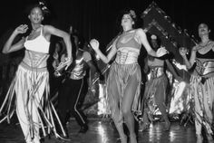 Le Freak C'est Chic ~~  April 25, 1977: Full-length view of disco dancers performing in costume at the opening of Studio 54