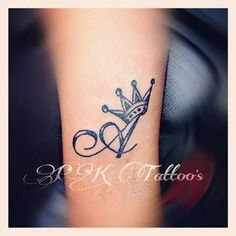 Image result for letter with a crown tattoo